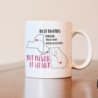 Best Friends Mug, Long Distance Mug, Gift for Best Friend, Long Distance Best Friend Mug, Best Friend Long Distance Gift, Long Distance Gift
