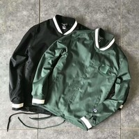 Champion embroidery stand collar Buckle Jacket Coat Tops H-A-XYCL