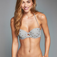 Caged Perfect Push-Up Bandeau Swim Top