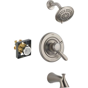 Delta Faucet Lahara 17 Series Dual-Function Tub and Shower Trim Kit