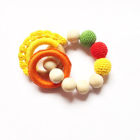 Crochet teething beads, A perfect baby gift