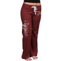 Texas A&M Aggies Ladies Relaxed Pants - Maroon