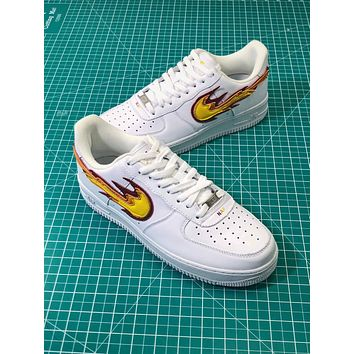 Nike Air Force 1 Af1 Low Flame Logo Sport Fashion Shoes