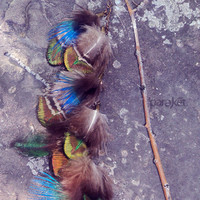Shaman's Dream peacock feathers & antiqued brass by pareket
