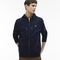 Men's Lacoste Embroidery Hoodie Cardigan Jacket Coat