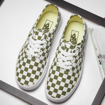 VANS Old Skool Army green classic low back casual shoes