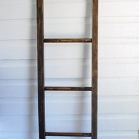 Orchard Style Rustic Wood Ladder with Vintage Look / 6 ft x 15 in