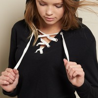 Laced Front Hoodie