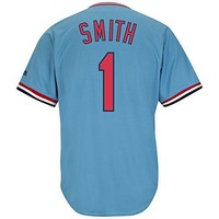 Ozzie Smith St. Louis Cardinals Blue Cool Base Pullover Cooperstown Jersey