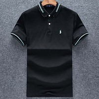 Polo Casual Simple Men Short Sleeve  Shirt Top Tee