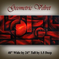 Red Geomertic Art / Valentine's Day Gift for Her / Large Artwork / Abstract Art Gift / Gift for Girlfriend / Gift for Women / Gift for Wife