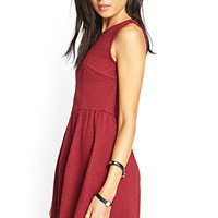FOREVER 21 MatelassA(c) Skater Dress
