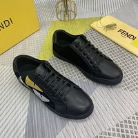 FENDI  Men Fashion Boots fashionable Casual leather Breathable Sneakers Running Shoes 0413cx