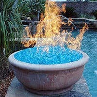 "1 Pound Of 1/2"" Classic Reflective Colored Fire Glass Crystals For Fire Pits Or Gas Fireplace"