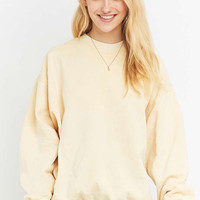 Urban Renewal Vintage Customised Yellow Bleached Sweatshirt - Urban Outfitters