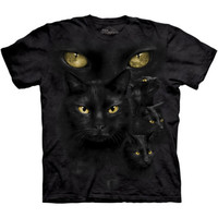 BLACK CAT MOON EYES The Mountain Witchcraft Magic Adult Mens T-Shirt S-5XL NEW