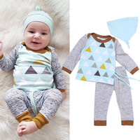 Outfits + Pants Hat Cotton Set Tracksuit Pajamas Baby Boy Girl Kids Baby Boy Girl Clothes Sets Tops T-shirt Long Sleeve Tops