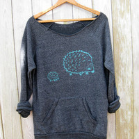 me and mama Hedgehog Sweatshirt, GIft for Mom, Hedgehog Sweater, Eco Friendly Top, S,M,L,XL