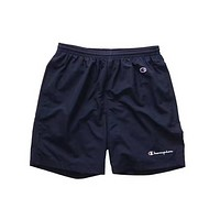 Champion Simple logo sports shorts, men women Navy blue