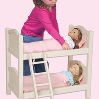 Guidecraft Doll Bunk Bed- White - G98127