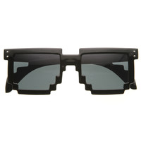 Square Pixel 8-Bit Graphics Gamer Geek Novelty Sunglasses 8661