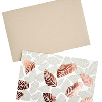 Tropical Leaves Card Set