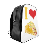 I Love Tacos School Backpack