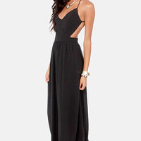 LULUS Exclusive Rooftop Garden Backless Black Dress