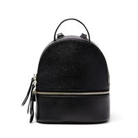 JULES KAE | Kelly Small Leather Backpack - Black