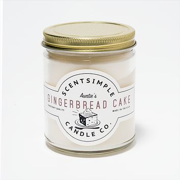Auntie's Gingerbread Cake Scented Soy Wax Candle