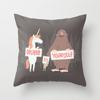 Believe in Yourself Throw Pillow by See Mike Draw