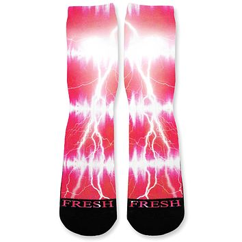 Blaze Tie Dye Storm Custom Athletic Fresh Socks