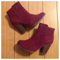 Fall Fashion Must Have! Fabulous Wine Bootie Boots
