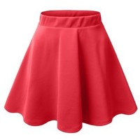 J.TOMSON Womens Basic Skater Skirt CORAL MEDIUM