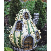 Striped Gourd House - My Fairy Gardens