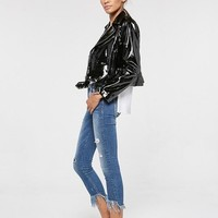 Moto Patent Leather Jacket