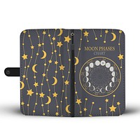 Moon Phases Chart Wallet Phone Case