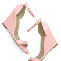 ModCloth Pastel One Suite Day Wedge in Bubblegum