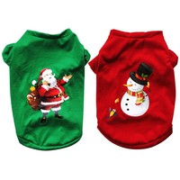 Christmas Dog Clothes For Dogs Chihuahua Winter Cotton Dog Christmas Costume Pet Clothes Warm Pet Cat Hoodie Coat Clothing