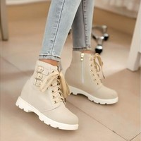 Women boots  Lady Fashion New Arrives Concise Casual Style Low Heel Shoes 2016 Hot Sale Women Special Office Big Size Ankle Boots [8833498508]