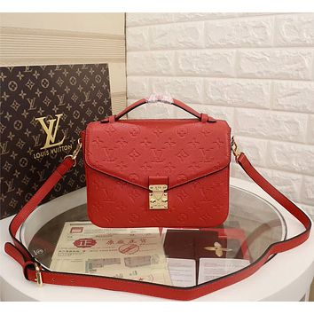 LV Louis Vuitton MONOGRAM LEATHER POCHETTE METIS INCLINED SHOULDER BAG