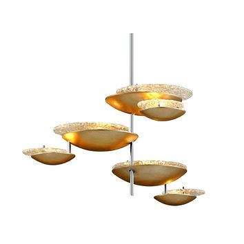 Corbett Lighting Libra 30-1/4 Wide Integrated LED Chandelier with Handmade Iron and Glass Shades Model 255-46 Libra