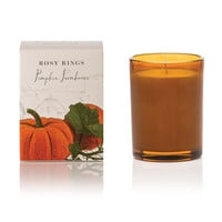 ROSY RINGS PUMPKIN FARMHOUSE BOTANICA GLASS CANDLE