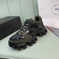 Prada men's Casual Running Sport Shoes Sneakers Leather Shoes 07094
