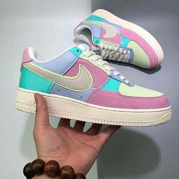 Nike Air Force 1 Low Easter Egg AF1 Stylish Women Personality Running Sport Shoes Sneakers I/A