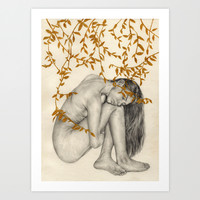 The Fragility Of Being Human Art Print by Elly Liyana