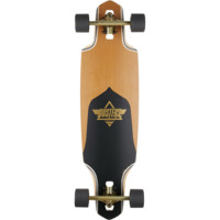 Dusters Drop-Thru Channel Gold Complete Downhill Longboard Skateboard - 9.12