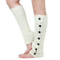 Knitted Lace Leg Warmers
