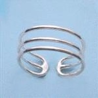 Triple Band Sterling Silver Toe Ring