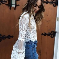 Lola BellSleeved Laced Top
